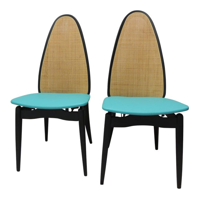 Stakmore Mid-Century Folding Chairs - A Pair - Image 1 of 8