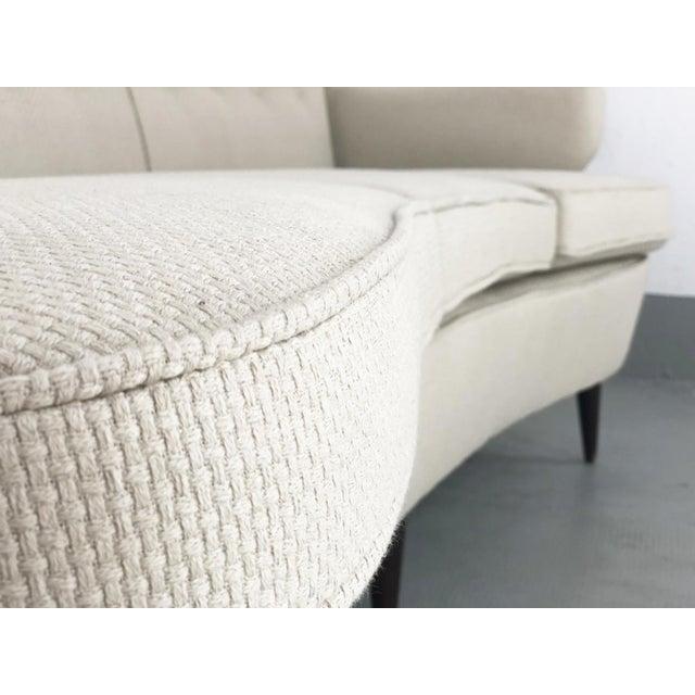 Sofa by nino zoncada designed by gio ponti for the transatlantic andrea doria, from 1951. The three-seat sofa has been...