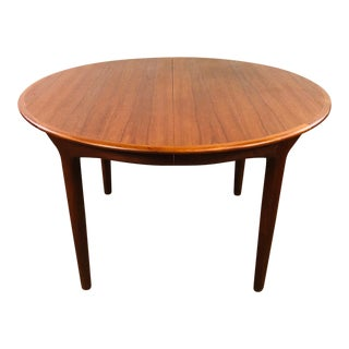 1960s Mid Century Modern Henning Kjaernulf Teak Dining Table For Sale