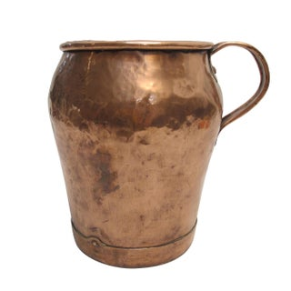 Large Antique Copper Jug Pitcher, French 19th Century