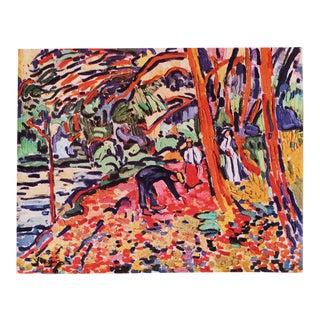 1948 Maurice De Vlaminck, Landscape With Dead Wood Original Period Lithograph For Sale