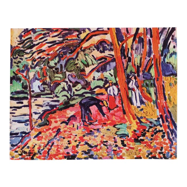 1948 Maurice De Vlaminck, Landscape With Dead Wood Original Period Lithograph For Sale