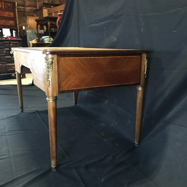 Metal 19th Century French Walnut Louis XVI Desk For Sale - Image 7 of 13