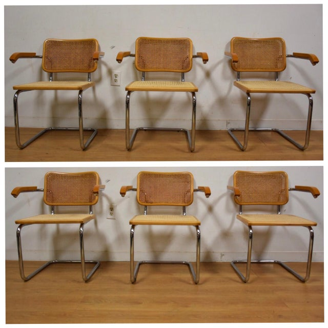 Marcel Breuer Mid-Century Cesca Dining Chairs - Set of 6 ...