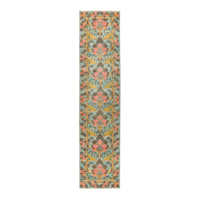 """Arts & Crafts Hand Knotted Runner Rug - 2' 8"""" X 11' 9"""" - Image 1 of 4"""
