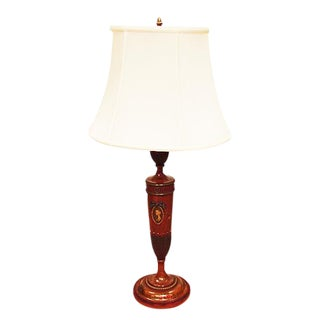 Modern Neoclassical Style Painted Satinwood Lamp For Sale