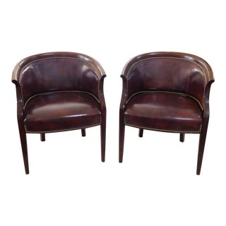 Hancock & Moore Visitor's Leather Chairs - a Pair For Sale