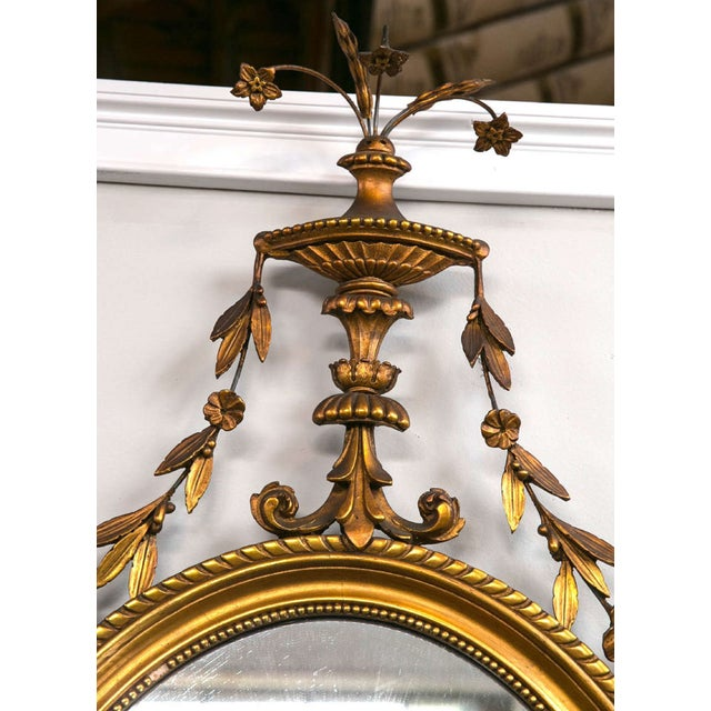 Adams Style Giltwood and Gesso Carved Mirror - Image 6 of 7