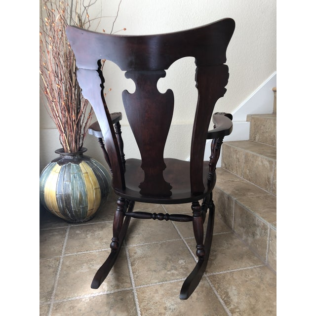 Jacobean Colonial Revival-Inspired Carved Rocking Chair For Sale - Image 4 of 13