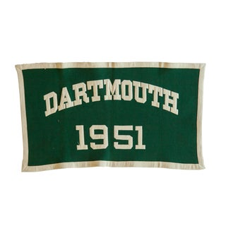 Vintage Dartmouth 1951 Felt Banner For Sale