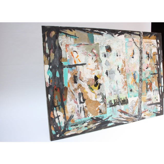 Abstract Ralph De Burgos Mixed-Media Abstract Collage For Sale - Image 3 of 12