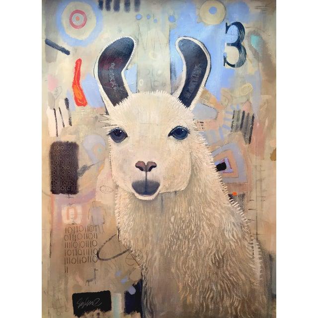 Original Royal Llama Oil on Canvas Painting - Image 1 of 5