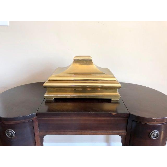 Metal 1978 Chapman Brass Pagoda Box For Sale - Image 7 of 7
