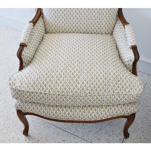 Vintage French-Style Newly Upholstered Bergere Chairs - Pair For Sale In Los Angeles - Image 6 of 13