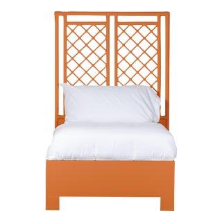 X & Diamond Bed Twin Extra Long - Orange For Sale