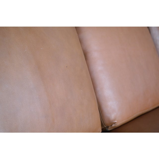 Brown Danish Mid-Century Sofa In Cognac Leather For Sale - Image 8 of 10