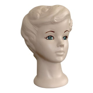 Vintage Head Face Porcelain Vase For Sale