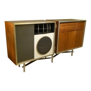 Eames for Stephens Trusonic Three Way Speaker System and Custom Cabinet, 1956 For Sale