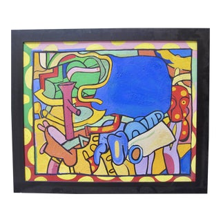 1950s Patricia Sloane New York School Abstract Expressionist Oil Painting For Sale