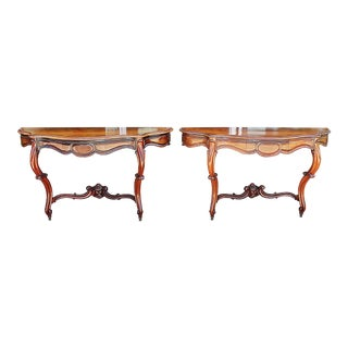 French Antique Rosewood Consoles - a Pair