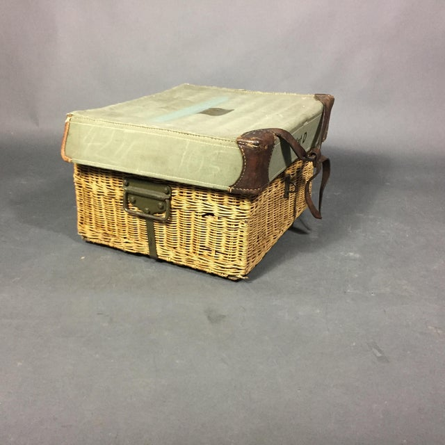 Vintage Swiss Army Military Basket, 1940s, Switzerland For Sale In New York - Image 6 of 10