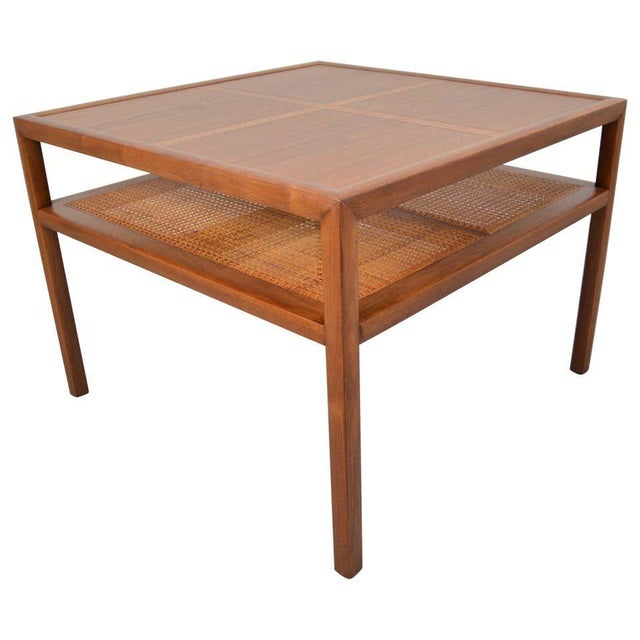 Wood Michael Taylor for Baker Furniture Square Cocktail Table For Sale - Image 7 of 7