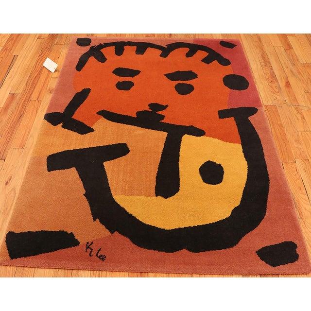 Paul Klee Artist Scandinavian Rug - 4′8″ × 6′6″ For Sale - Image 12 of 13