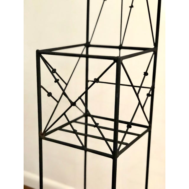 Metal Late 20th Century Iron Trellis Plant Stands - a Pair For Sale - Image 7 of 12