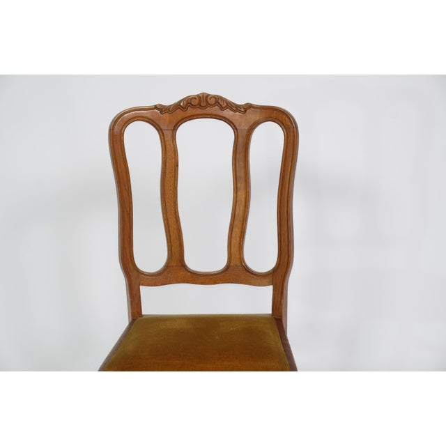 Gold Set of 6 Louis XV Dining Chairs With Gold Upholstery For Sale - Image 8 of 12