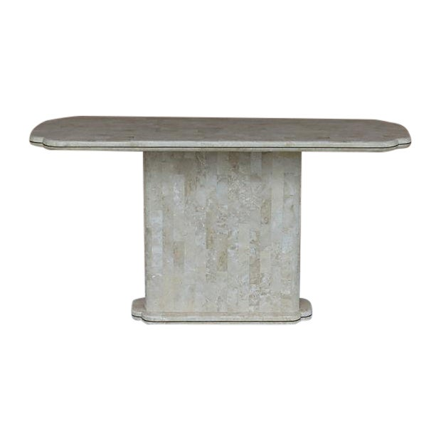 Maitland-Smith Style Tessellated Stone Console - Image 1 of 8