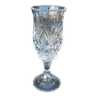 Vintage Crystal Hurricane Candle Holder For Sale