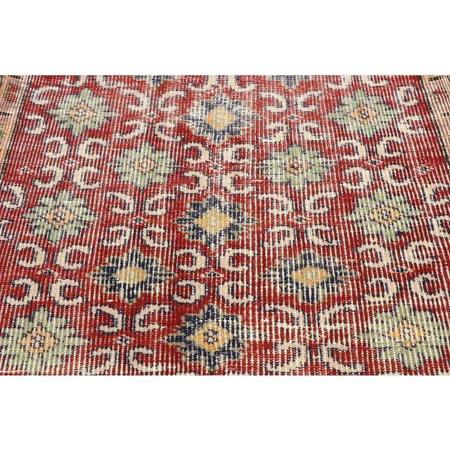 Mid 20th Century Zeki Muren Distressed Vintage Turkish Sivas Rug - 02'08 X 04'07 For Sale - Image 5 of 10
