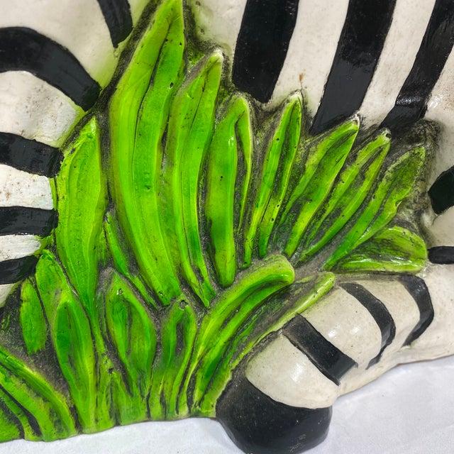 Black Vintage Hollywood Regency Resin Zebra Sculpture For Sale - Image 8 of 13