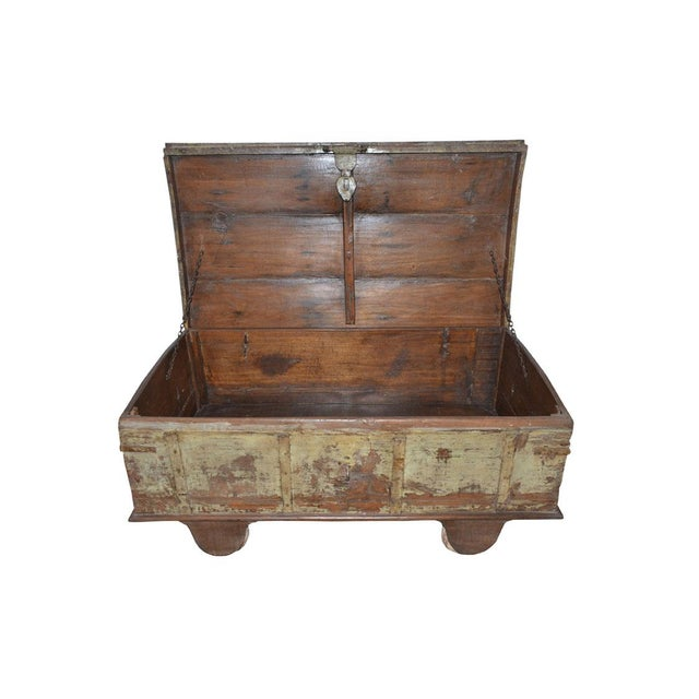 Americana Vintage Curved Top Chest Trunk For Sale - Image 3 of 4