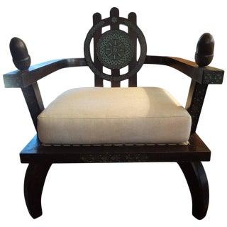 1940's Vintage Carlo Bugatti Inspired Ettore Zaccari Italian Lounge Chair For Sale