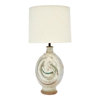 California Stoneware Table Lamp For Sale