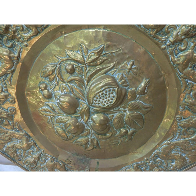Late 19th Century 19th Century French Brass Fruits Platter For Sale - Image 5 of 6