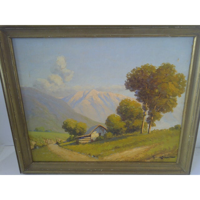 """Traditional """"The Farm Lane"""" by Roman Matthews For Sale - Image 3 of 7"""