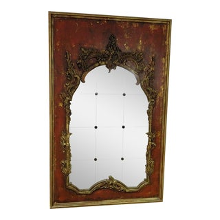 20th Century Hollywood Regency Style Wooden Wall Mirror
