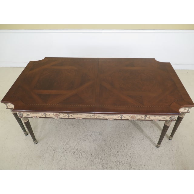Regency 1990s Regency Ej Victor Paint Decorated Dining Room Table For Sale - Image 3 of 13