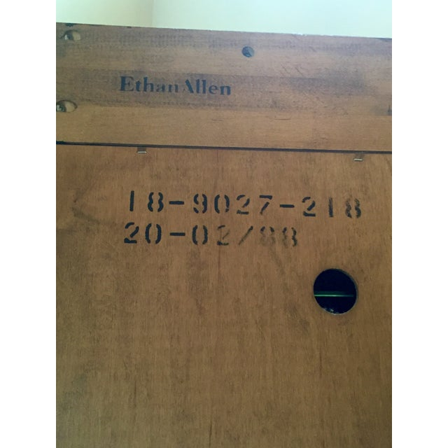 Vintage Ethan Allen Entertainment Cabinet For Sale - Image 9 of 9