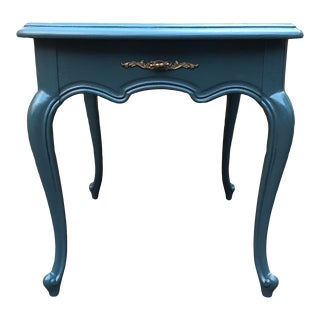 English Traditional Painted Wood Side Table For Sale