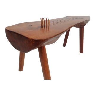 Midcentury Studio Made Live Edge Game Table For Sale
