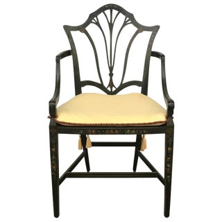 19th Century Edwardian Painted Elbow Chair For Sale