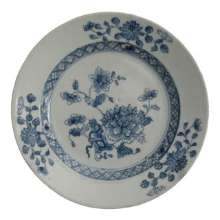Antique Dutch Delft Chinoiserie Plate