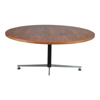 Mid Century German Teak Adjustable Coffee/Cafe Table For Sale