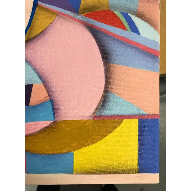 1994 Abstract Geometric Painting by Susan Johnson For Sale - Image 4 of 10