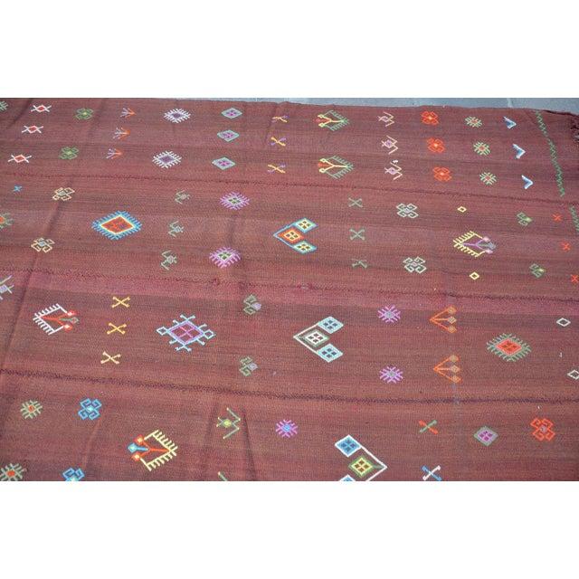 Nomadic Turkish Wool Bohemian Rug - 4′8″ × 7′8″ For Sale - Image 4 of 6
