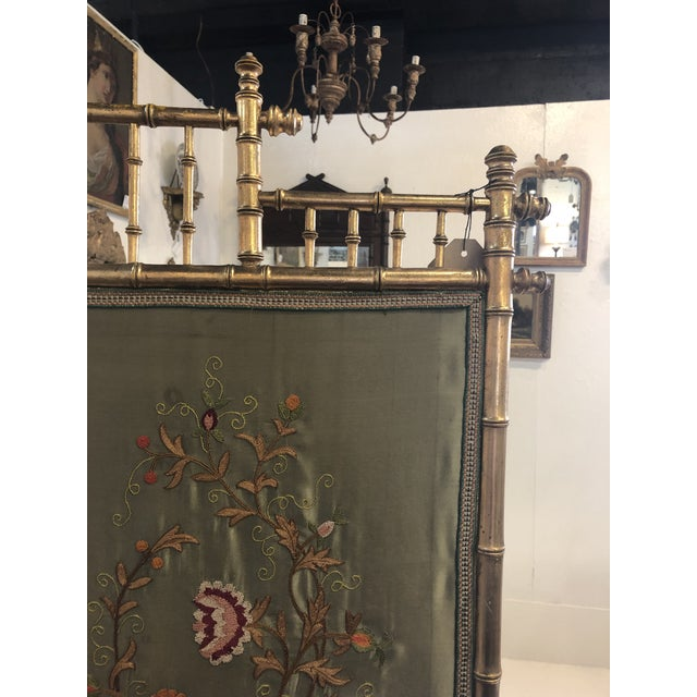 Gold Bamboo Fire Screen For Sale In Atlanta - Image 6 of 11