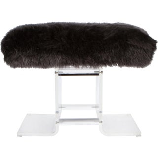 1980s Lucite & Fur Bench Preview